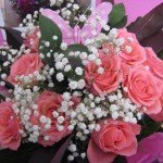 12 Pink Rose Hand Tied Bouquet £40.00