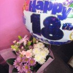 Birthday Hand Tied with Balloon £30.00