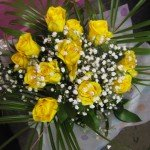 yellow rose hand tied from £35