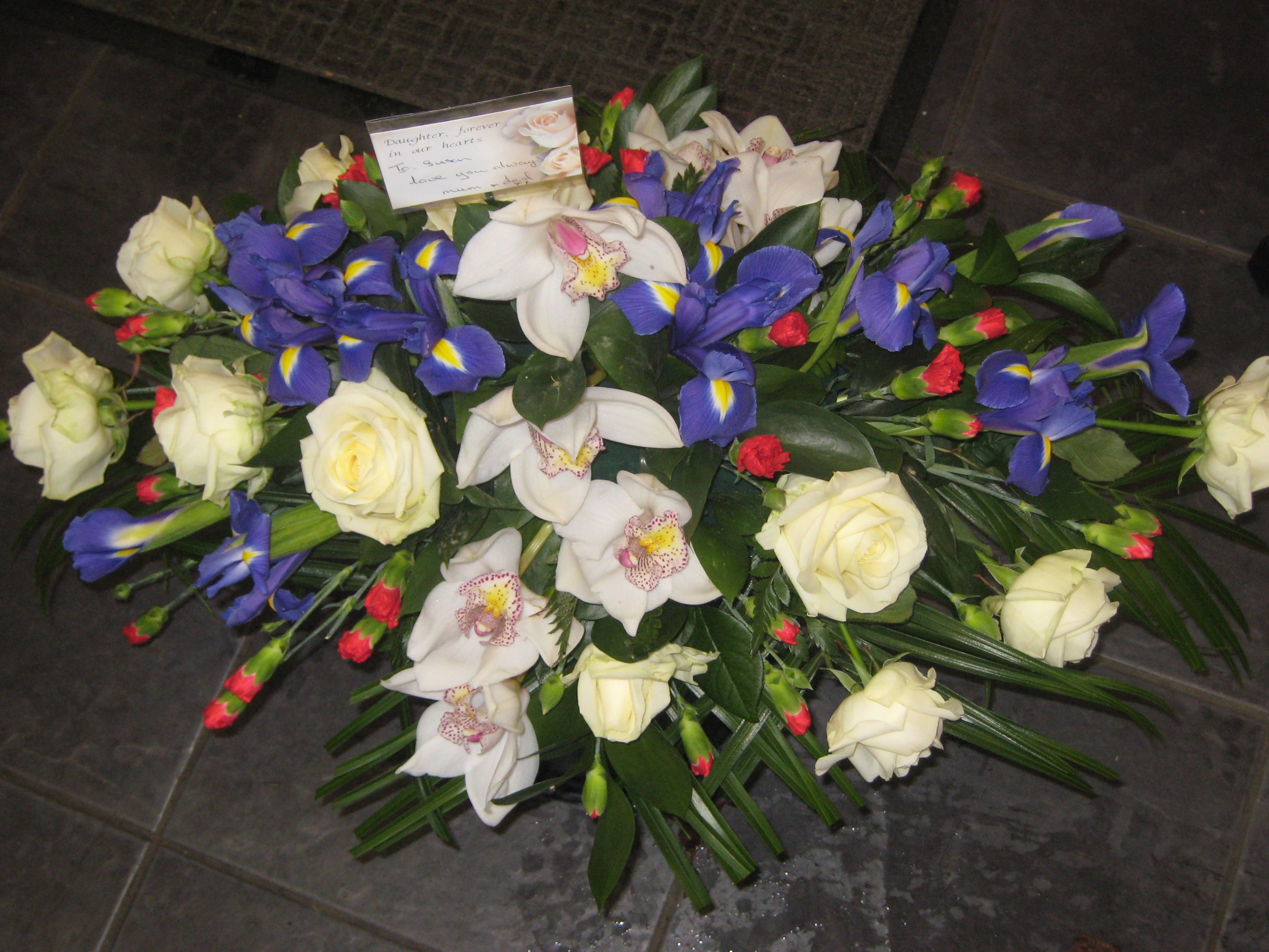 Jacaranda flowers funeral tributes wreaths teardrop and posy click izmirmasajfo Image collections