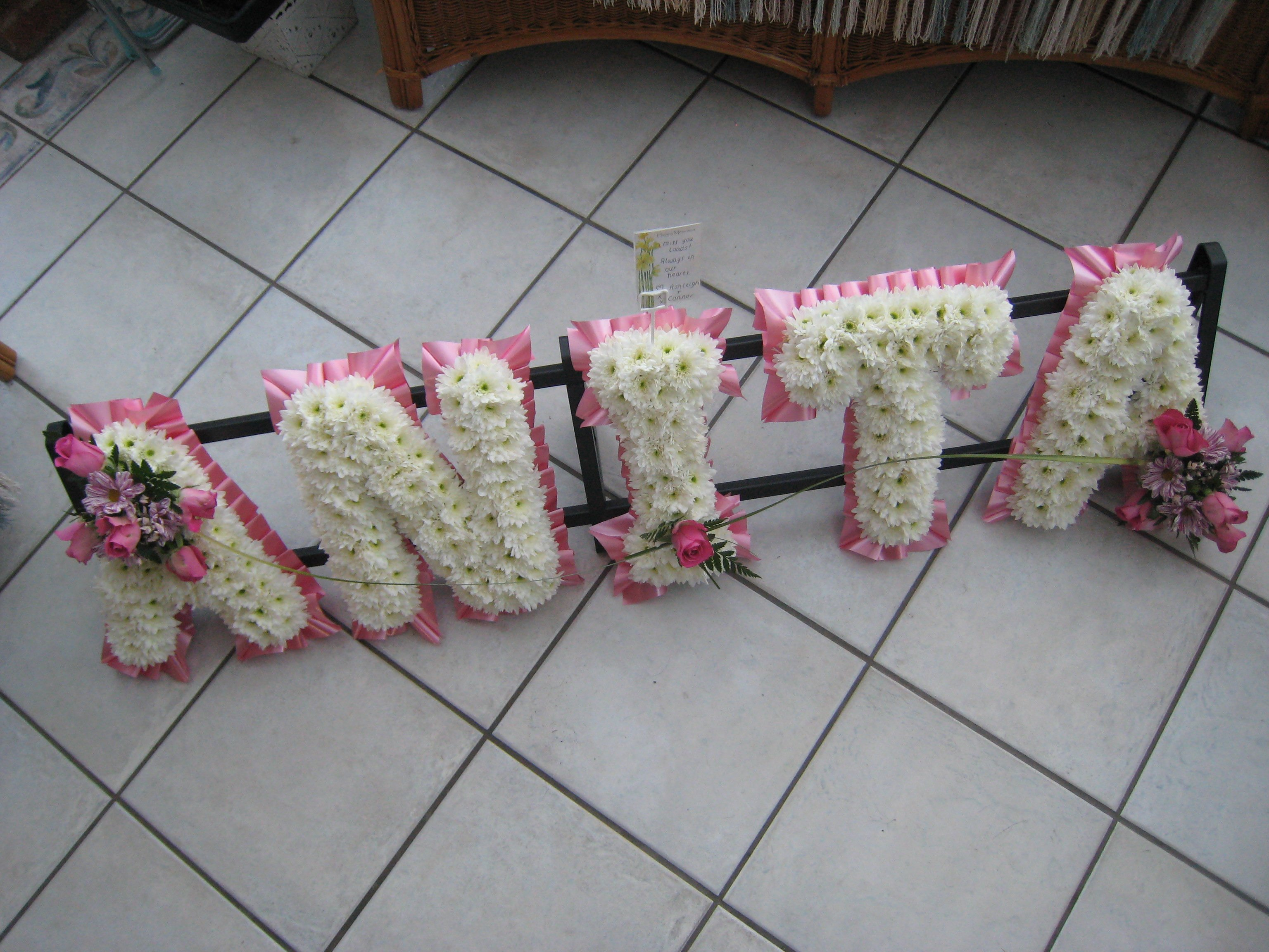 Jacaranda Flowers Funeral Letters