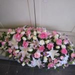 White lily and pink roses £165