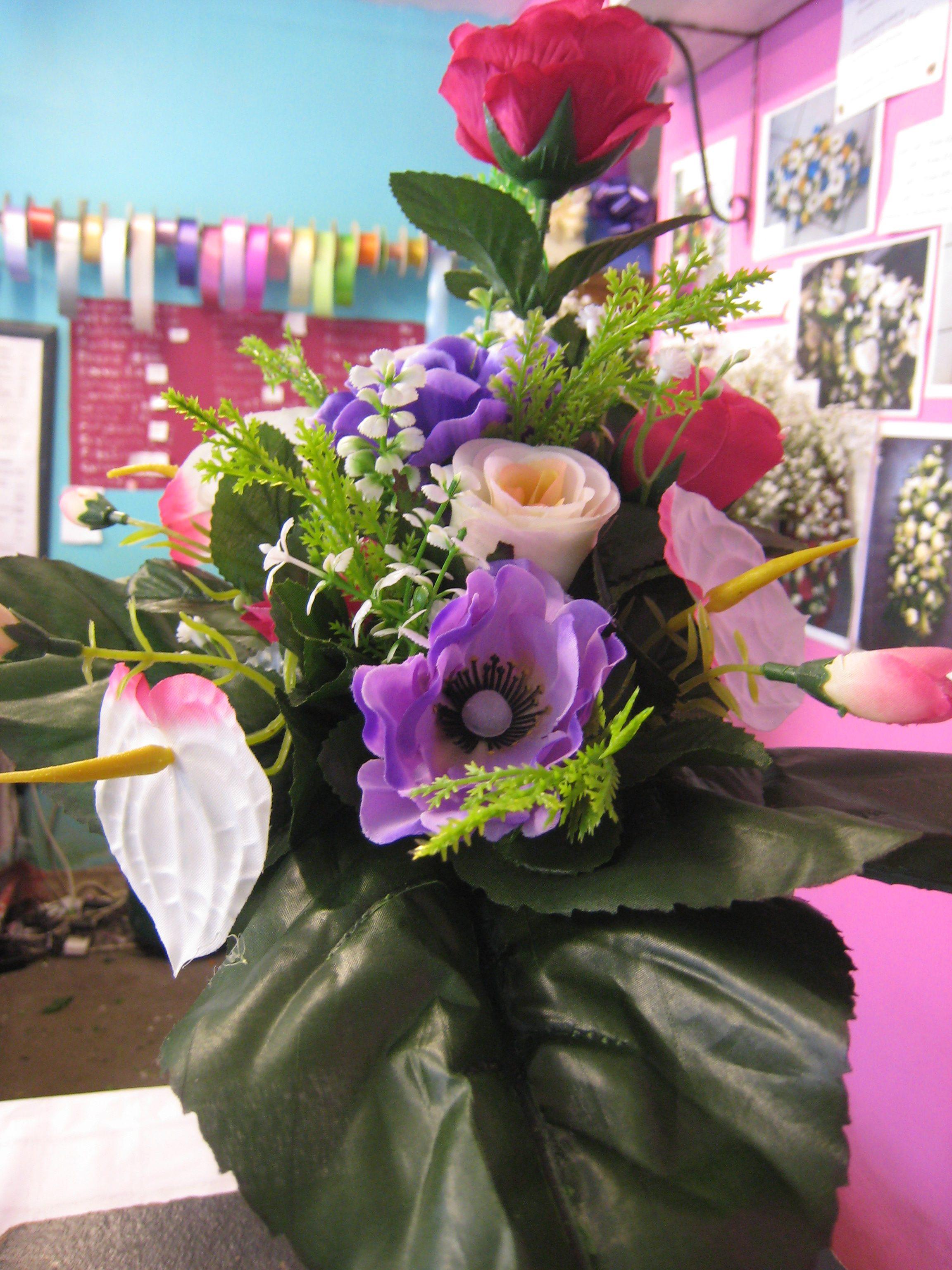 Jacaranda flowers silk flower cemetery pots grave spikes christmas grave pots1100 postage izmirmasajfo