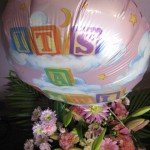 New Baby girl flowers and balloon £30