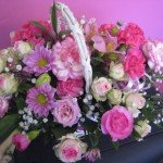 Pretty pink basket £25.00