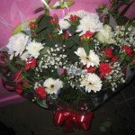 Red & White Bouquet £25