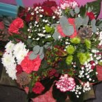 christmas hand tied bouquet from £25 upwards