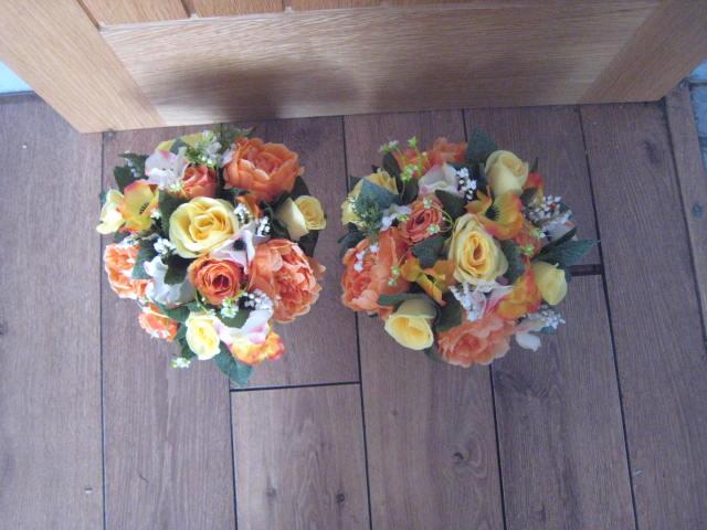 Jacaranda Flowers Silk Flower Cemetery Pots Grave Spikes